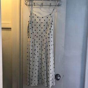 Old Navy Polka Dot Dress Black And White Dress